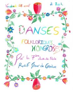 A francia nyelvű plakátot a gyerekek rajzaiból szerkesztették