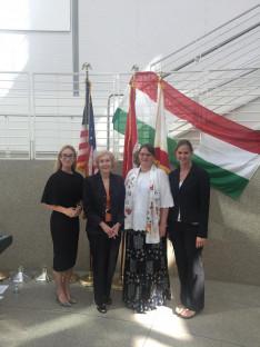 a szervezők, köztük jómagam és Voisin Éva tiszteletbeli konzulasszony