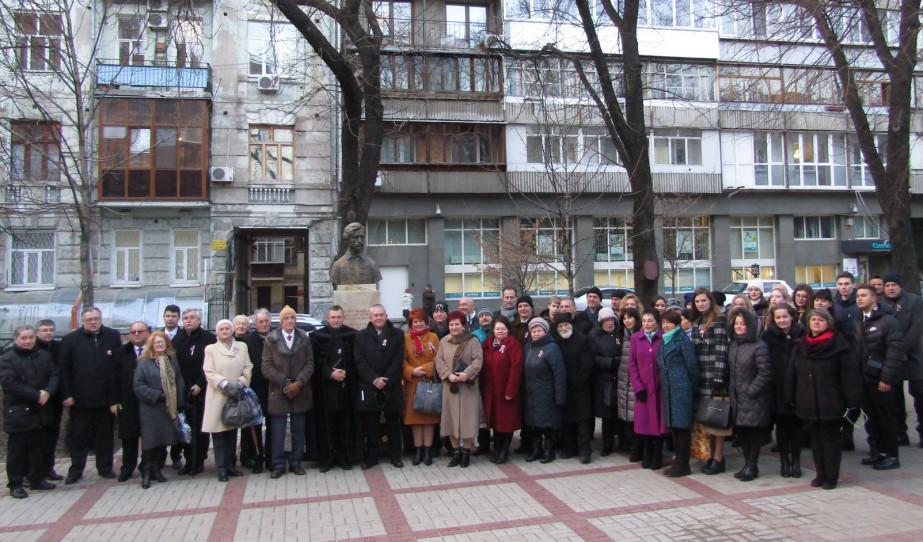 Megemlékezés a szabadságharc és forradalom 171. évfordulójáról Kijevben.