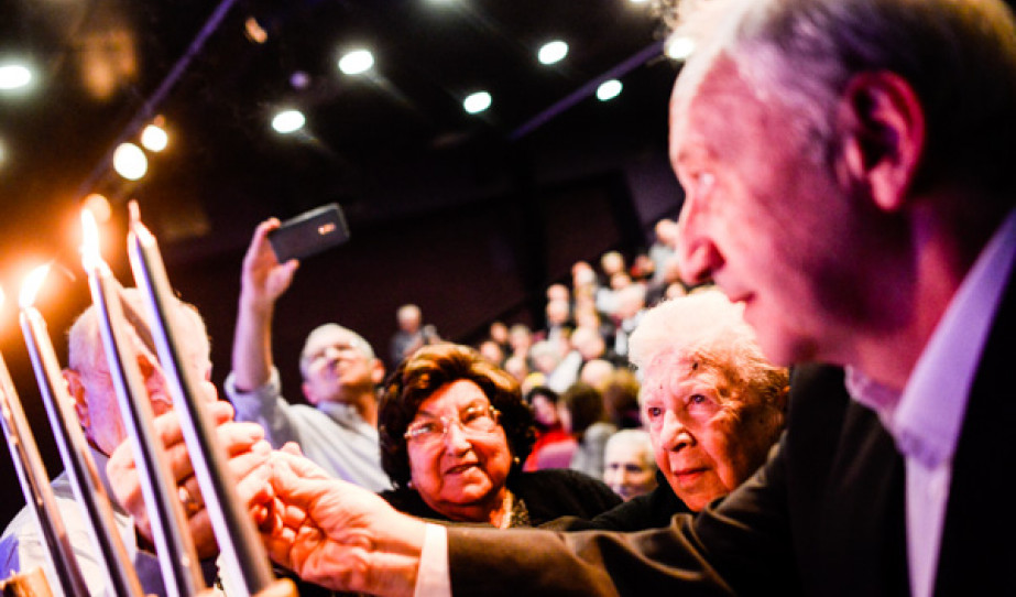 A Kárpátalajai Zsidók Világszövetségének hanukai ünnepsége