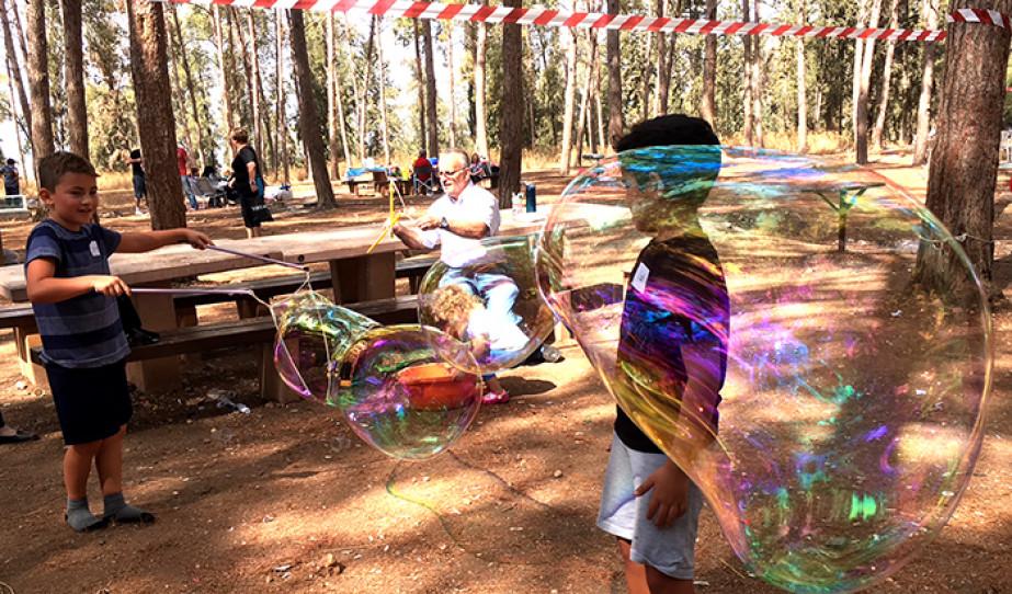 Szukkóti piknik a Ben Semen-i erdőben