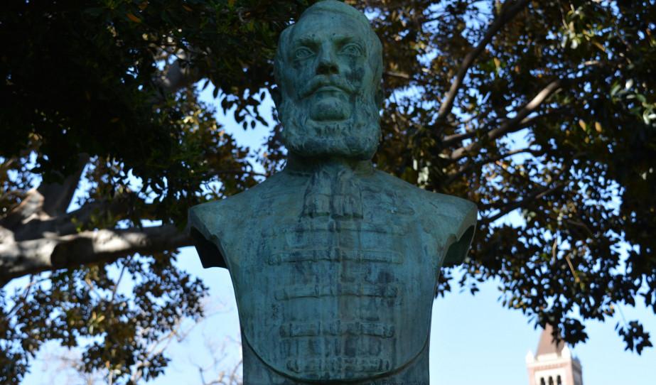 Kossuth-szobor koszorúzása Los Angeles-ben