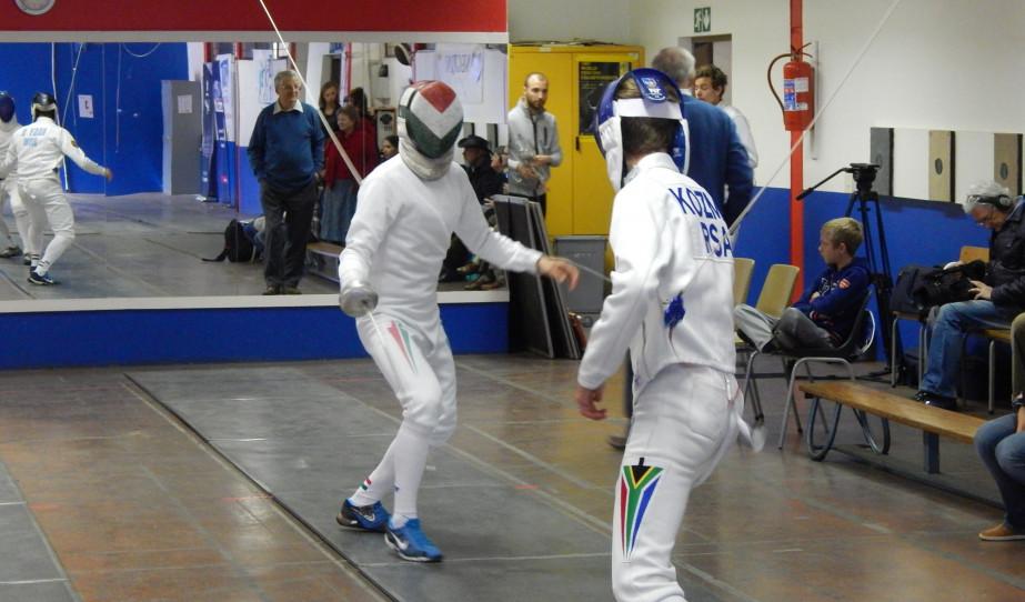Vívó bemutató csapatverseny Pretóriában