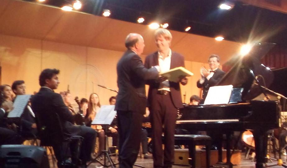 Kiss Péter az Andrés Bello Egyetemen