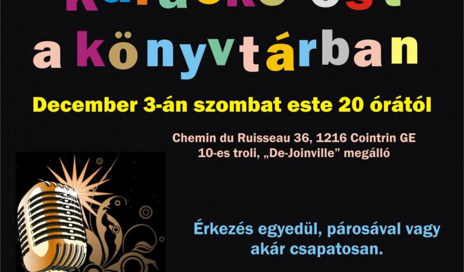 Karaoke estünk plakátja