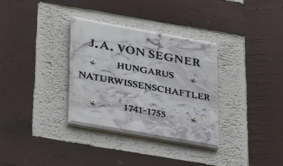 Segner emléktábla avatás Göttingengen