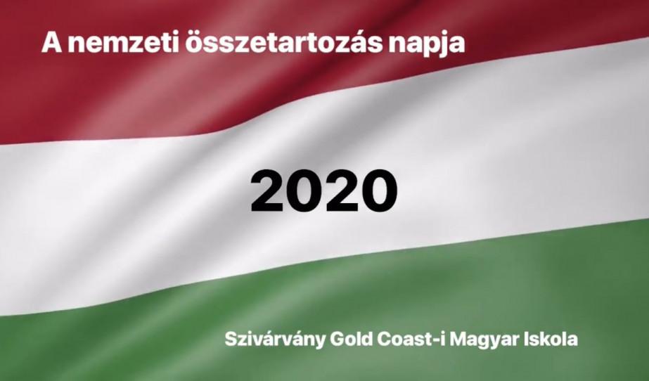 A nemzeti összetartozás napja 2020 - Szivárvány Gold Coast-i Magyar Iskola