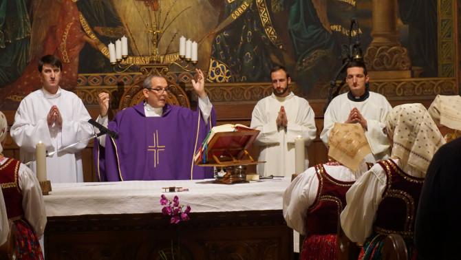 Adventi gyertyagyújtás a Pázmáneumban