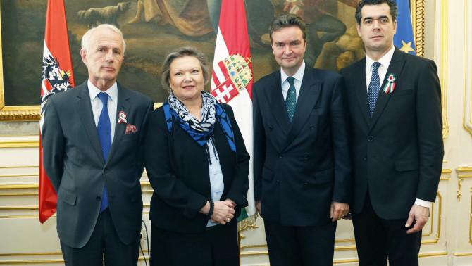Dr. Perényi János nagykövet és meghívott vendégei