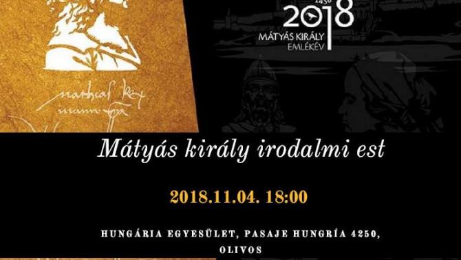 Mátyás király irodalmi est plakátja