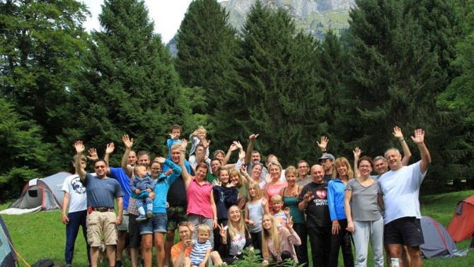 Közös családi kirándulás Svájcban