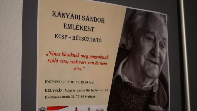 Kányádi Sándor emlékest és KCSP ösztöndíjasok búcsú estje