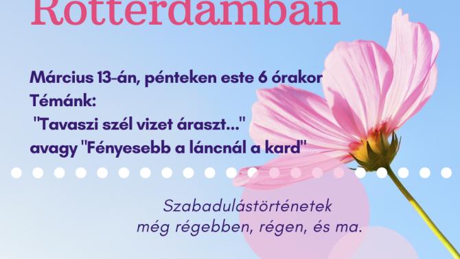 Rotterdami bibliaóra plakát