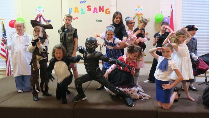 Valamennyi gyermek felvette kedvenc jelmezét a farsangra