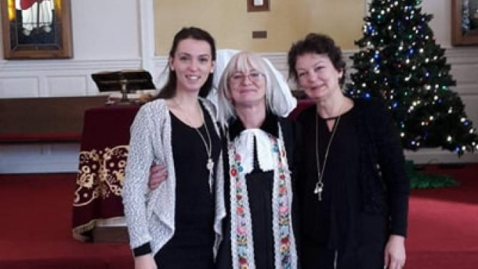 Evangélikus lelkésznővel Tamásy Évával