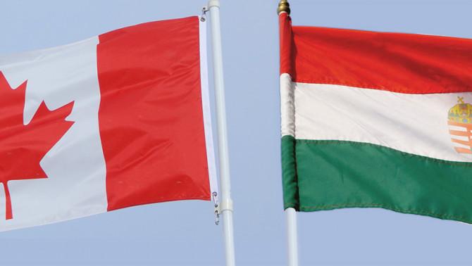 kanadai-magyar zászló