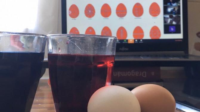 Online tojásfestés együtt