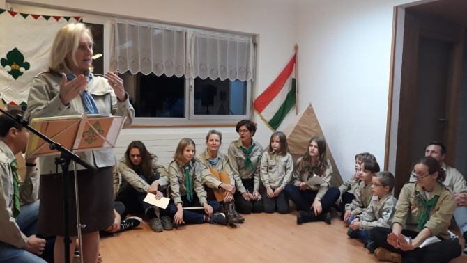 A genfi cserkészek csapatuk 35. évfordulóját ünneplik