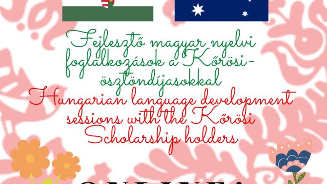 Az első online foglalkozásokat hirdető plakát a Magyar Ház oldalán