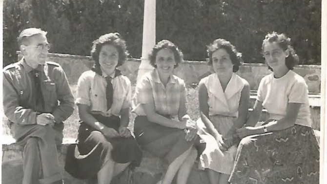 Marika az első cserkésztáborában