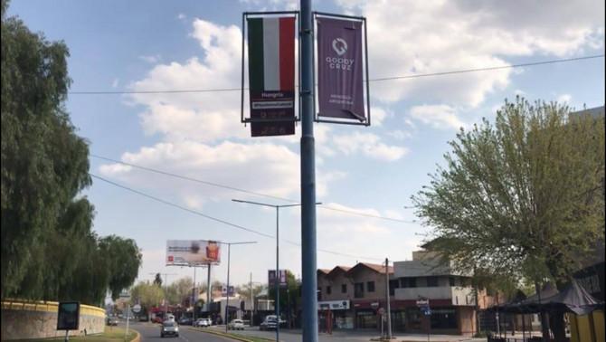 Magyar zászló Mendozában, Godoy Cruzban