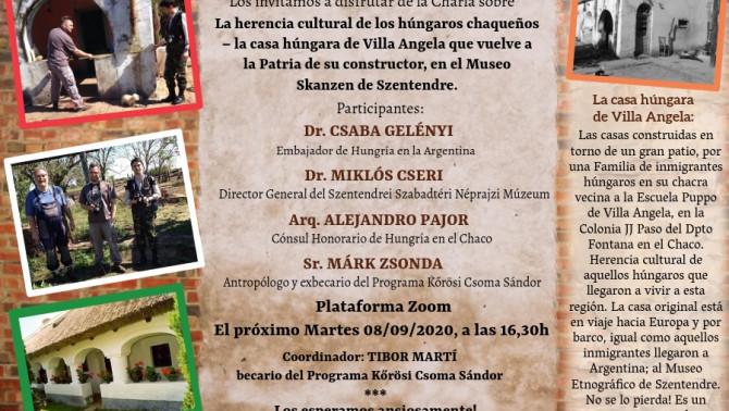 A chacói magyar ház hazatéréséről szervezett online szimpózium meghívója