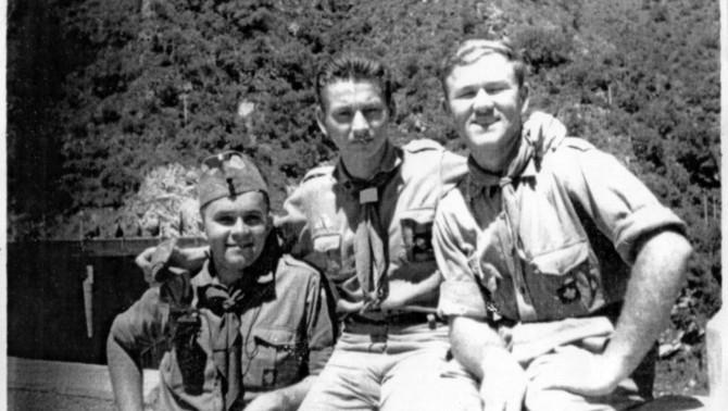 Az 1960-as cserkésztábor néhány résztvevője