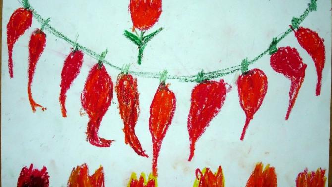A 3 éves Weber Tibor rajza
