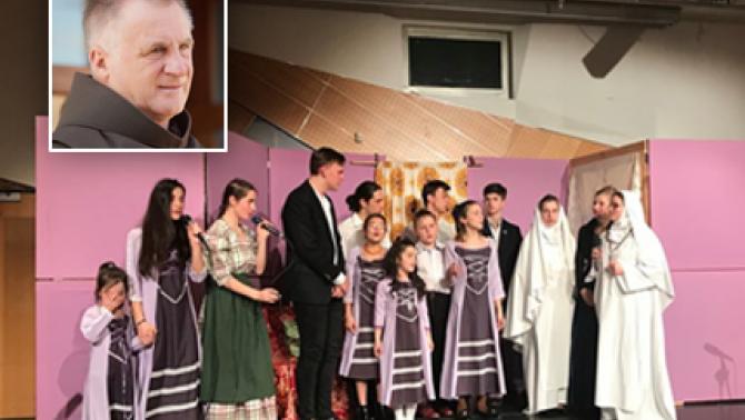 Böjte Csaba, ferences rendi szerzetes Bécsben járt