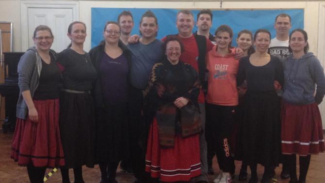 Chester, tánc, továbbképzés, csoportkép