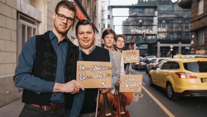 A Bajkó zenekar a turnéjuk helyszíneivel