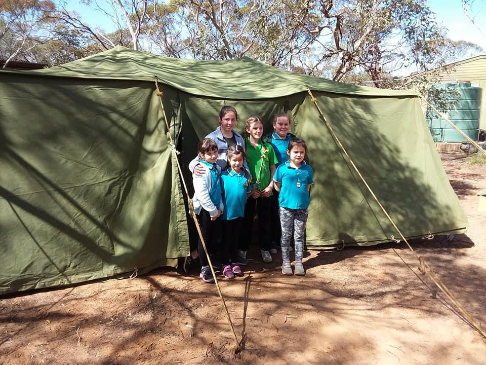 Az adelaidei cserkészek táborztak