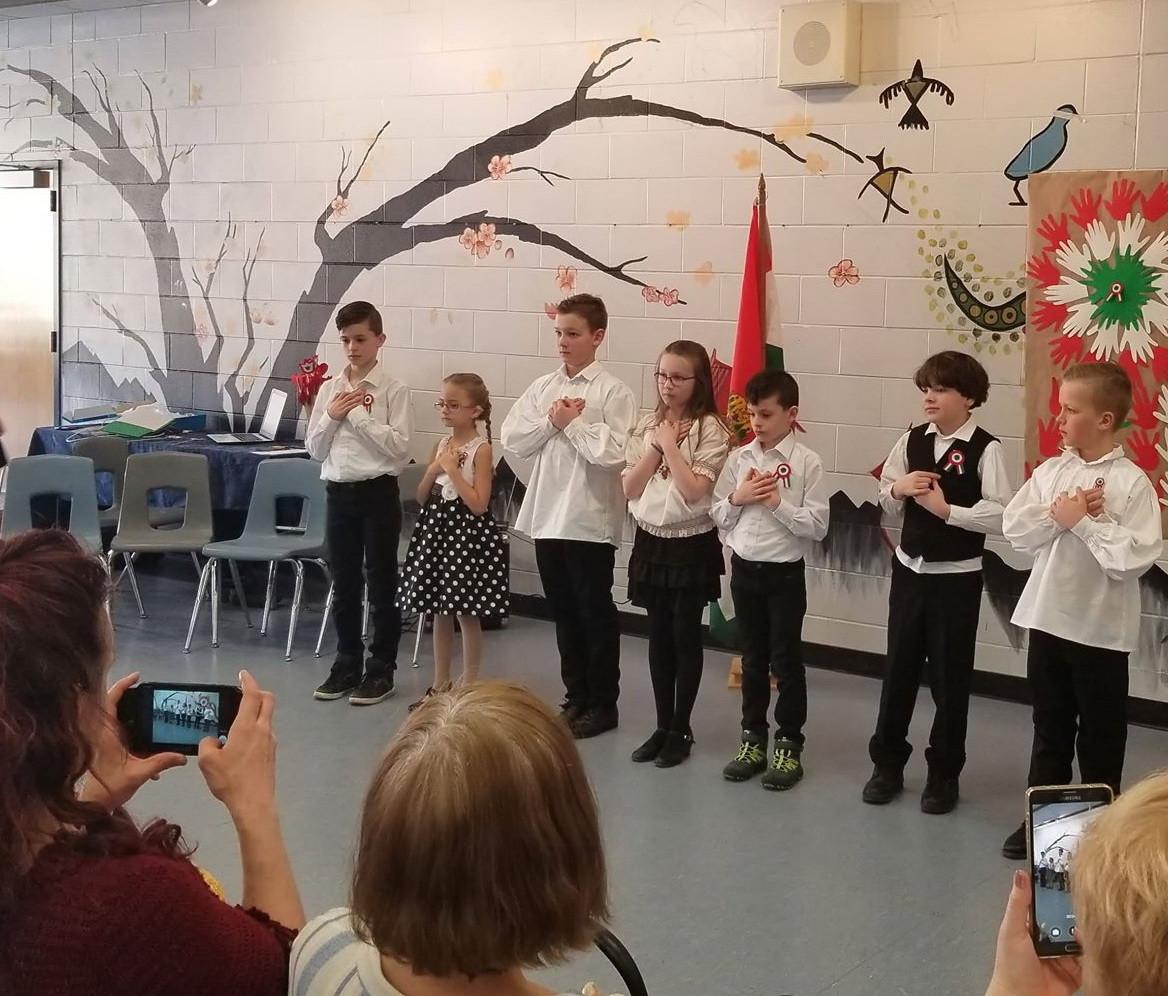 A saskatooni magyar iskola kisdiákjai